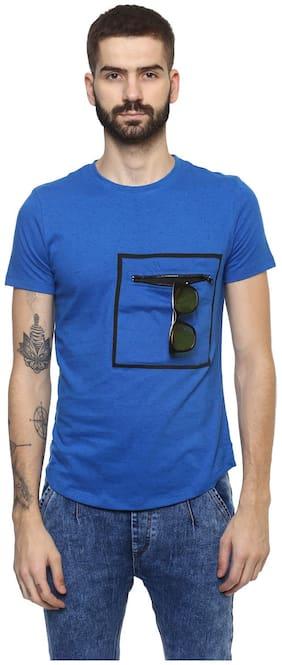 Men Round Neck Pocket Styling T-Shirt