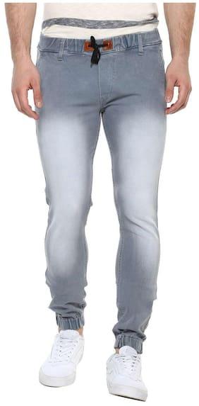 Urbano Fashion Men's Light Grey Slim Fit Stretchable Jogger Jeans