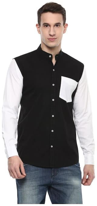 Urbano Fashion Men Slim fit Casual shirt - Black