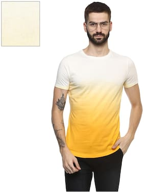 Men Round Neck Dyed T-Shirt