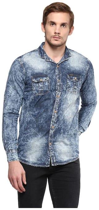 Urbano Fashion Men Regular Fit Casual shirt - Blue