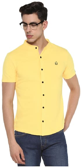 Urbano Fashion Men Slim Fit Casual shirt - Yellow