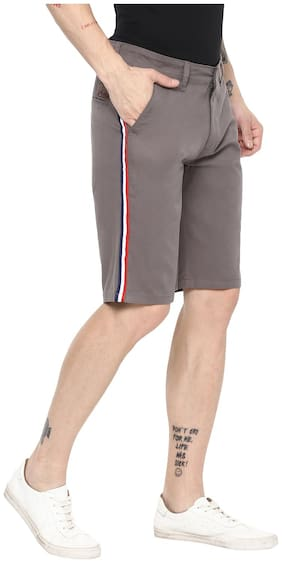 Men Solid Chinos Shorts