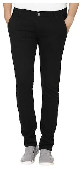 Urbano Fashion Men's Black Slim Fit Stretch Jeans