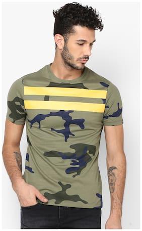 Men Round Neck Camouflage T-Shirt