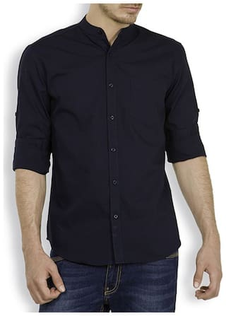 Urbano Fashion Men Slim fit Casual shirt - Blue