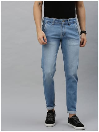 Urbano Fashion Men Blue Slim Fit Jeans