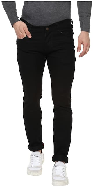 Urbano Fashion Men Mid rise Regular fit Jeans - Black