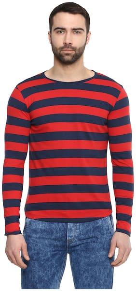Urbano Fashion Men Slim fit Round neck Striped T-Shirt - Multi