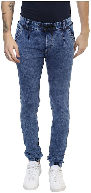 Urbano Fashion Men Mid rise Jogger Jeans - Blue