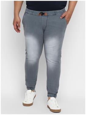 Urbano Plus Men Grey Jogger Jeans