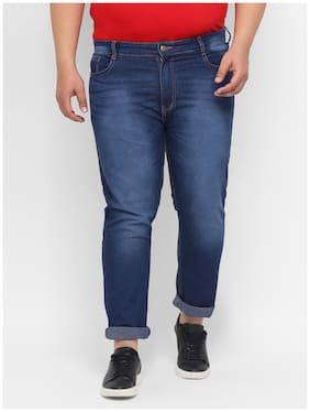 Urbano Plus Men Navy Blue Regular Fit Jeans