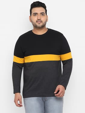 Men Round Neck Colorblocked T-Shirt Pack Of 1