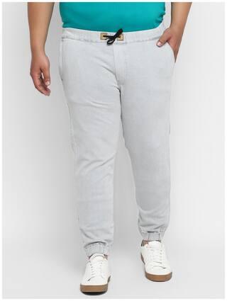 Urbano Plus Men Grey Regular Fit Jeans