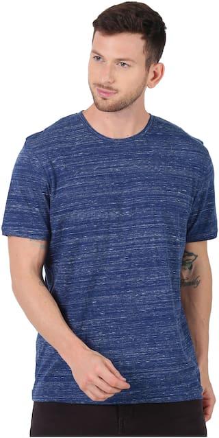 Urgear Men Blue Regular fit Cotton Round Neck T-Shirt