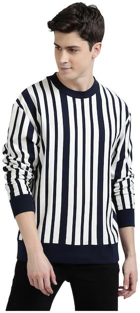 Urgear Men White & Black Round neck Sweatshirt
