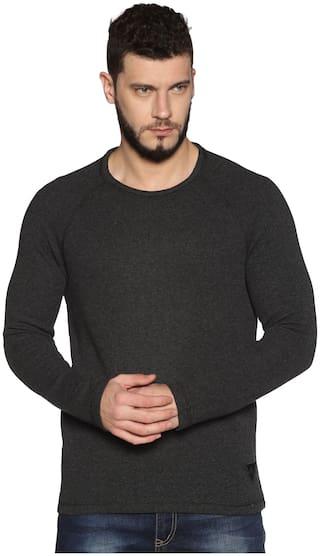 Urgear Men Black Round neck Sweatshirt