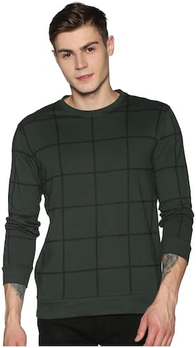 Men Round Neck Checked T-Shirt Pack Of 1