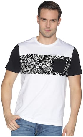 Men Round Neck Floral T-Shirt Pack Of 1