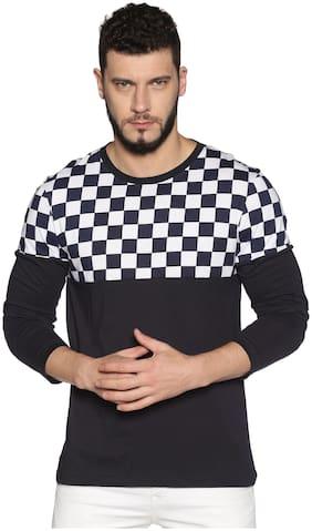 Urgear Men Navy blue Regular fit Cotton Round neck T-Shirt - Pack Of 1