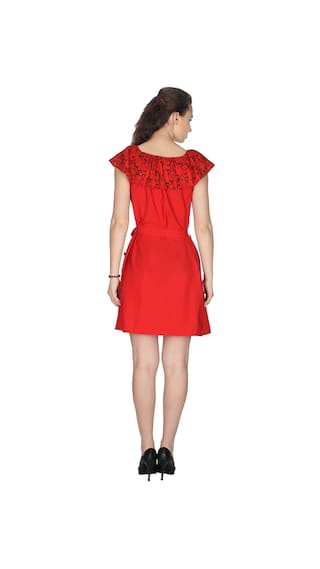 Solid Red Dress UVR Red Solid Dress Red Dress UVR Dress UVR Solid UVR Red Solid Red UVR fItpApx