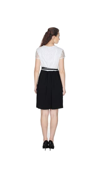 solid White DRESS UVR and Black PFt8nv8Xq