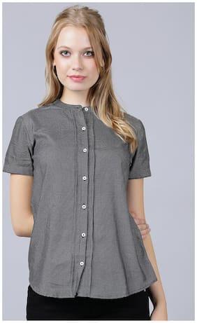 V2 VALUE & VARIETY Women Regular fit Printed Shirt - Black
