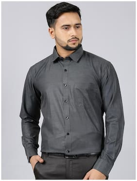 V2 VALUE & VARIETY Men Regular fit Formal Shirt - Black