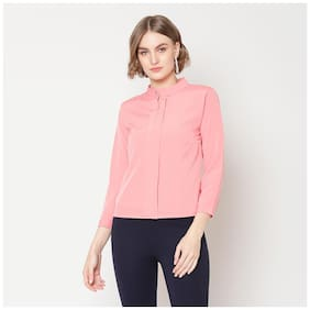 Women Solid Keyhole Top