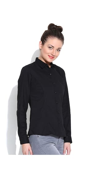 Vaak Cotton Vaak Shirt Black Black zOaqvwa