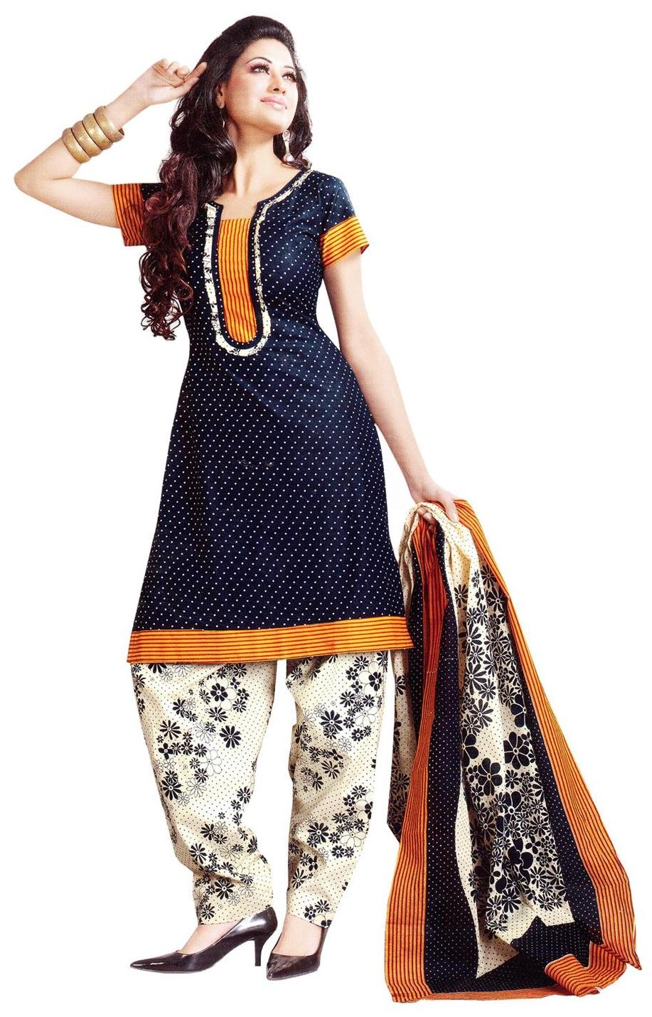 Vaamsi Poly Cotton Unstitched Dress Material Deep1016