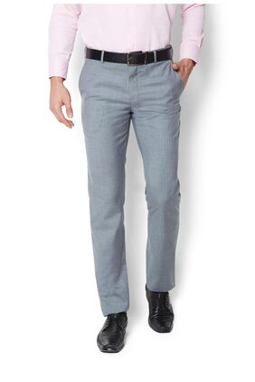Van Heusen Blended Slim Grey Formal Trouser