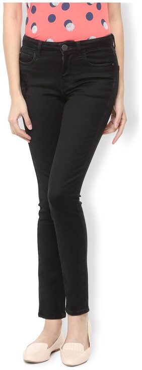 Van Heusen Women Skinny Fit Mid Rise Washed Jeans - Black