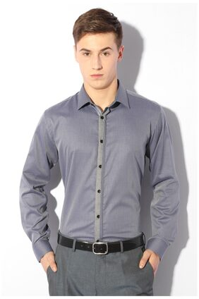 Van Heusen Men Slim Fit Formal Shirt - Blue