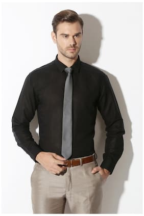 Van Heusen Men Slim Fit Casual shirt - Black