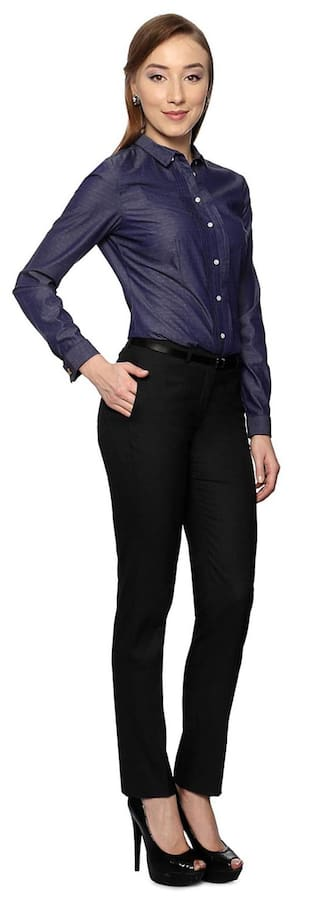 Casual Fit Business Trouser Slim Van Black Cotton Heusen YzHaqH