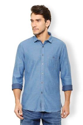 Van Heusen Men Slim Fit Casual shirt - Blue