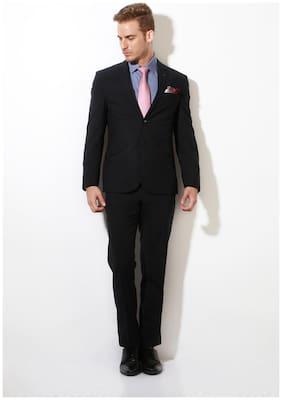 Van Heusen Men Polyester Slim fit Suit - Black