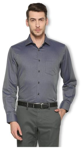 Van Heusen Men Super Slim Fit Formal Shirt - Grey