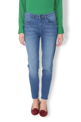 Van Heusen Women Skinny Fit Mid Rise Washed Jeans - Blue