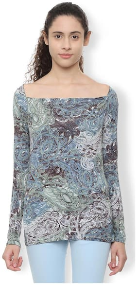 Women Printed Boat Neck Top ,Pack Of 1