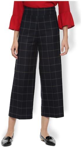 Women Checked Regular Trousers