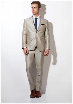 Van Heusen Men Blended Slim fit Suit - Beige