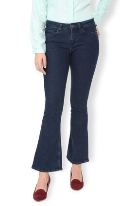 Van Heusen Women Regular Fit Mid Rise Washed Jeans - Blue