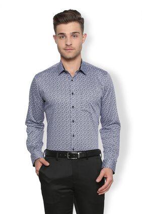 Van Heusen Men Slim Fit Formal Shirt - Grey