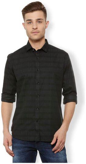 Van Heusen Men Slim Fit Casual shirt - Black
