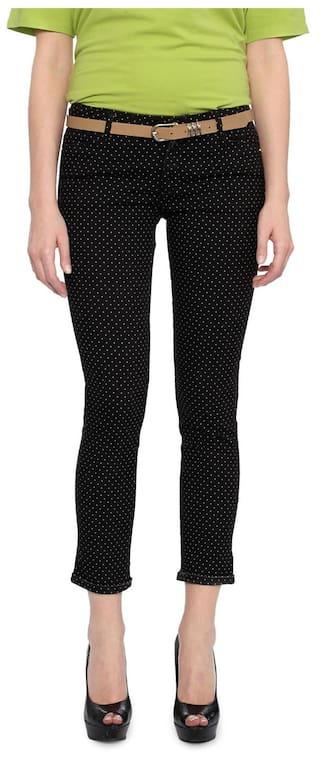 Van Heusen Black Cotton Regular Fit Jeans
