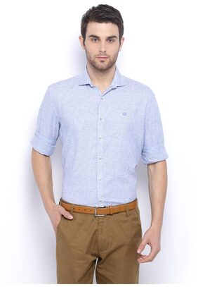 Van Heusen Men Slim Fit Casual shirt - White