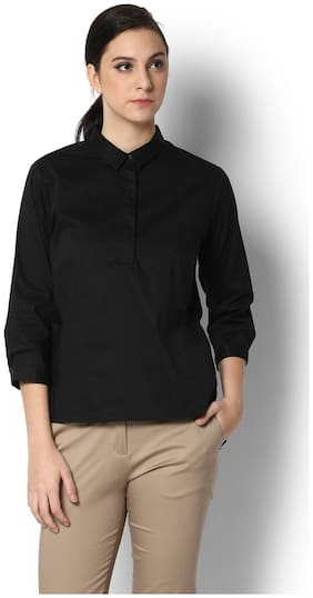 Van Heusen Black Shirt