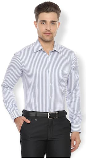 Men Slim Fit Striped Formal Shirt